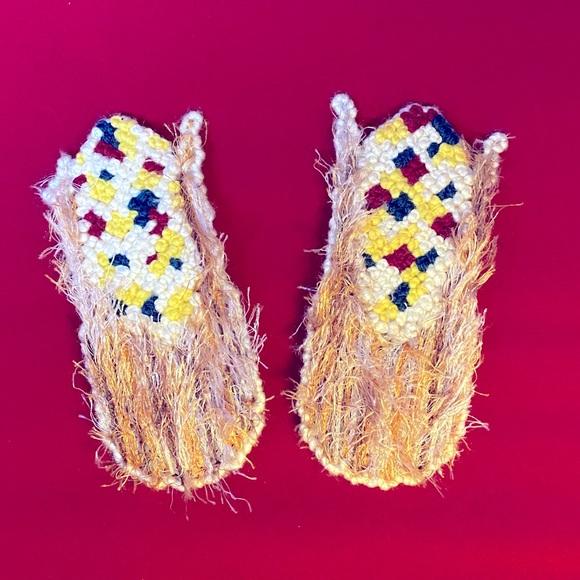Vintage handmade corn in the husk magnets